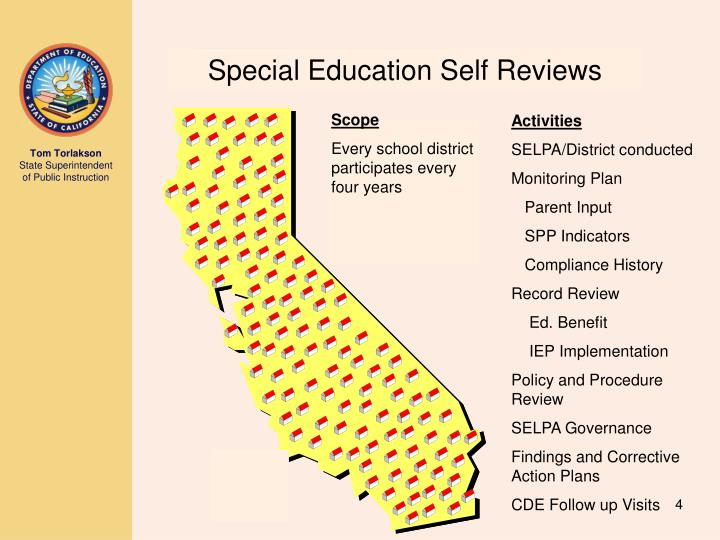 Special Education Self Reviews