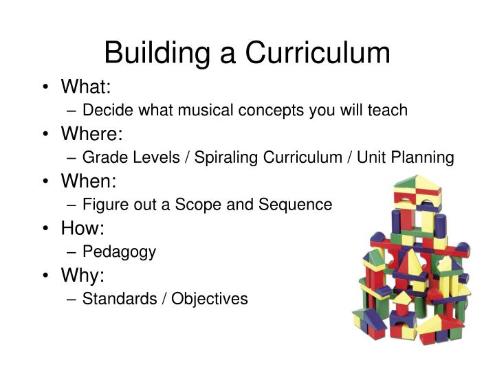 Building a Curriculum