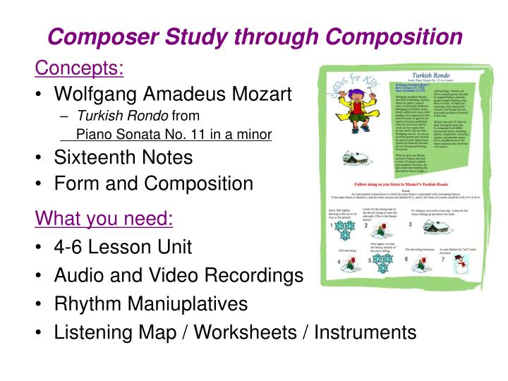 Composer Study through Composition