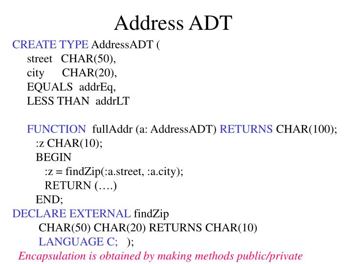 Address ADT