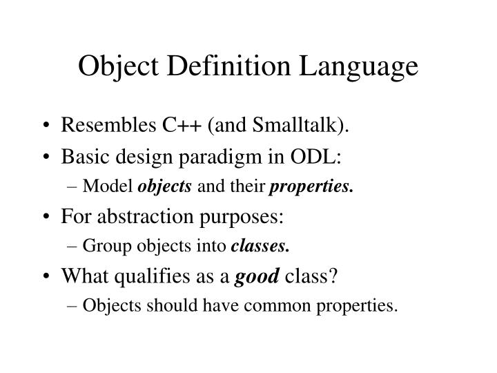 Object Definition Language