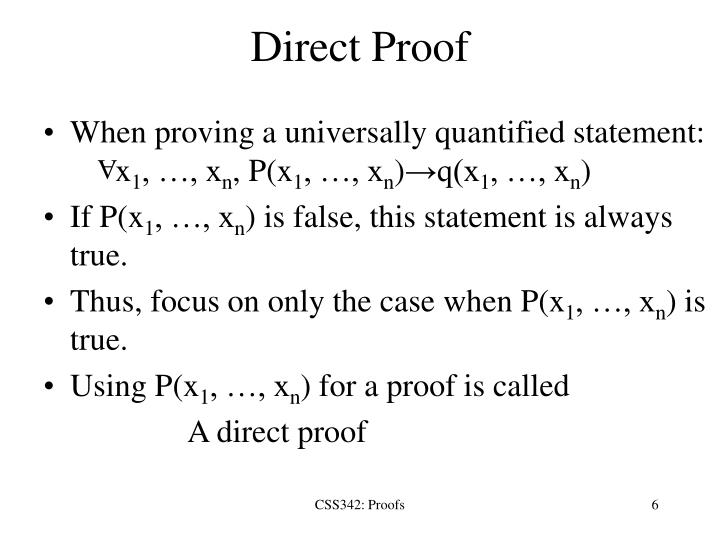 Direct Proof