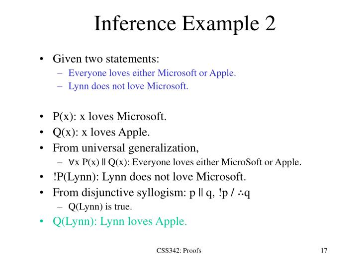 Inference Example 2