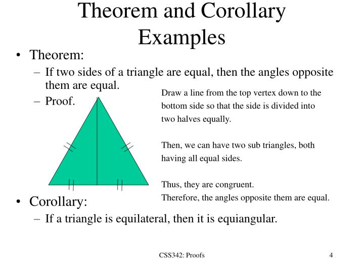 Theorem and Corollary