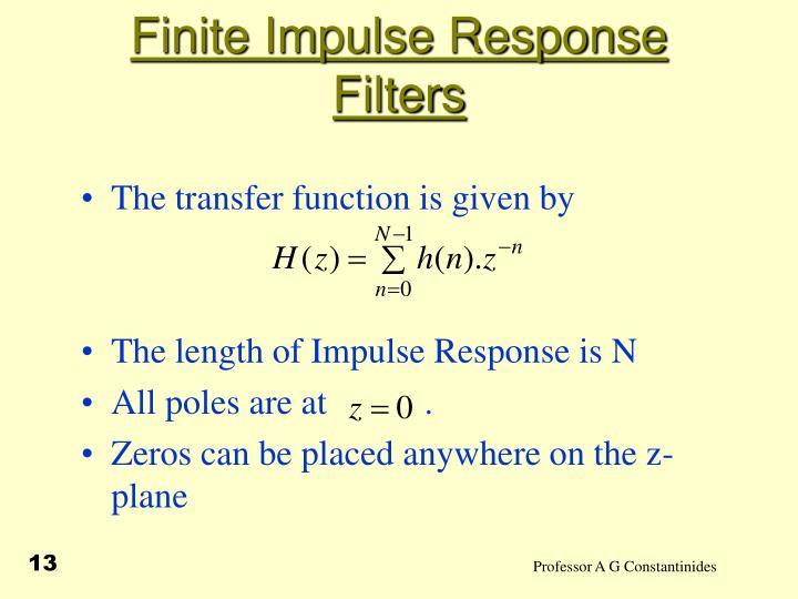 Finite Impulse Response Filters