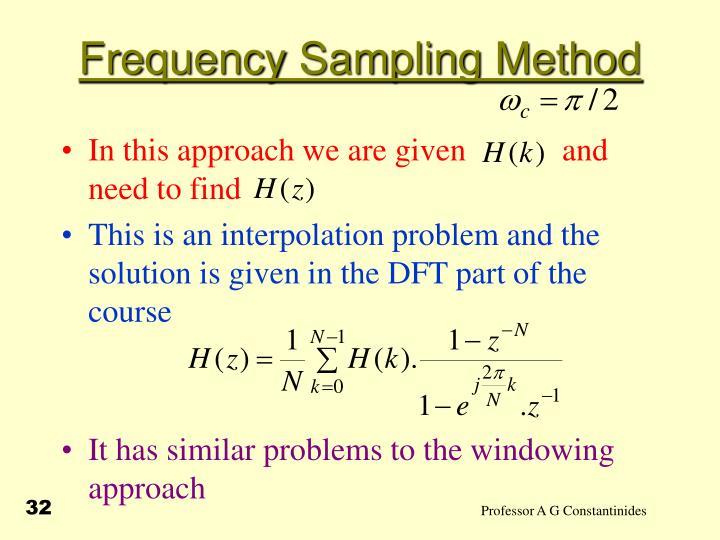 Frequency Sampling Method