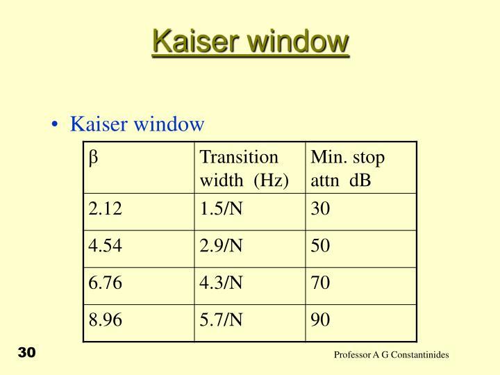 Kaiser window