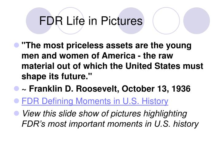 Fdr life in pictures
