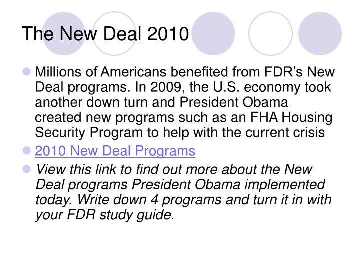 The New Deal 2010