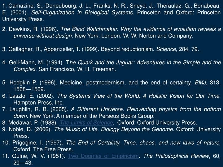 Camazine, S., Deneubourg, J.L., Franks, N.R., Sneyd, J., Theraulaz, G., Bonabeau, E. (2001).
