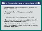commercial property inspections