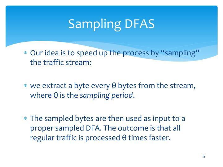Sampling DFAS