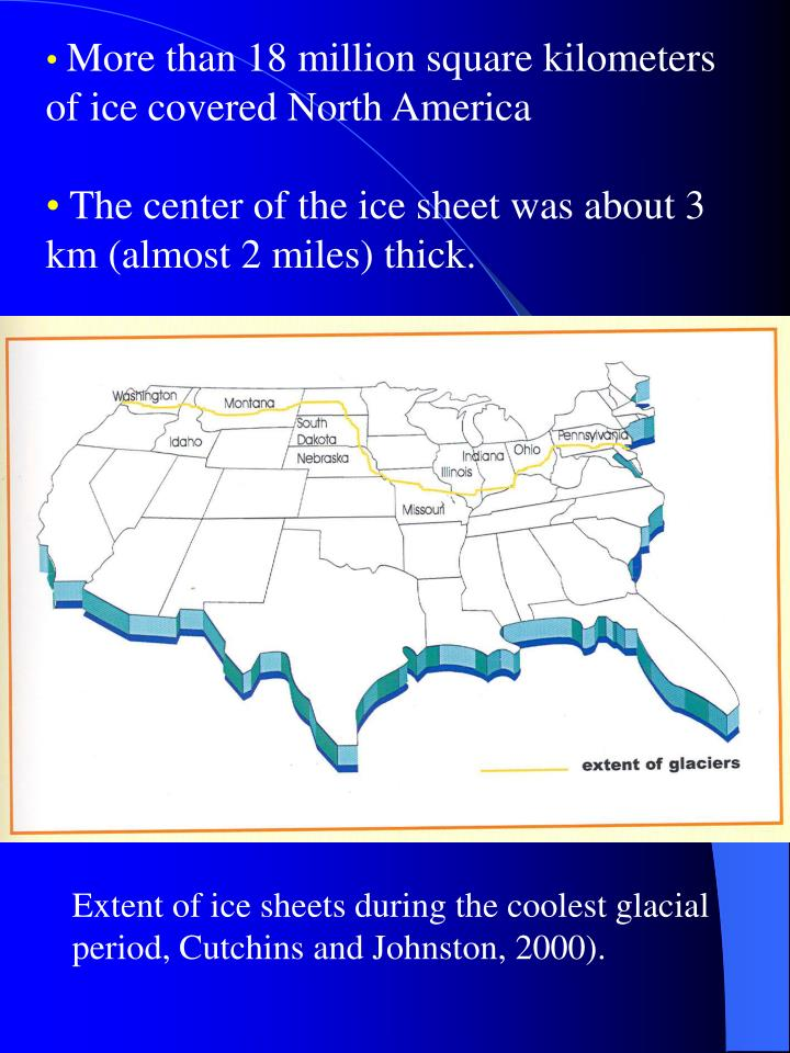 More than 18 million square kilometers of ice covered North America
