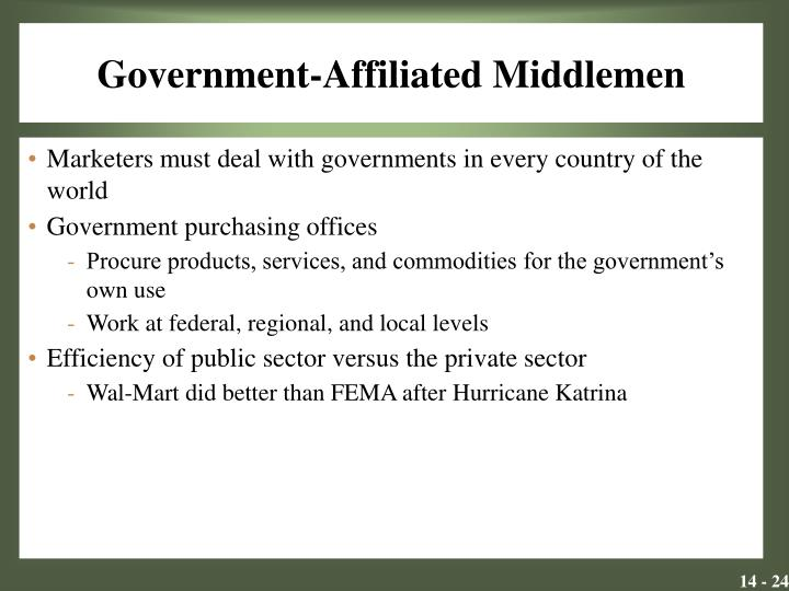 Government-Affiliated Middlemen