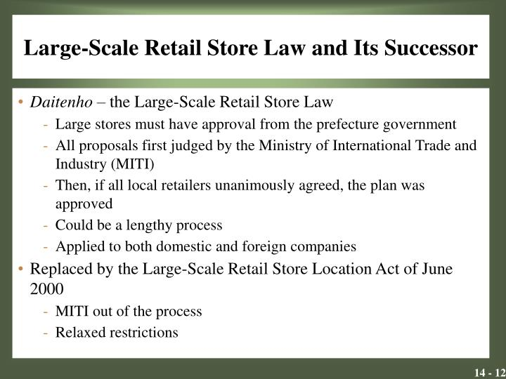 Large-Scale Retail Store Law and Its Successor