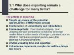 9 1 why does exporting remain a challenge for many firms