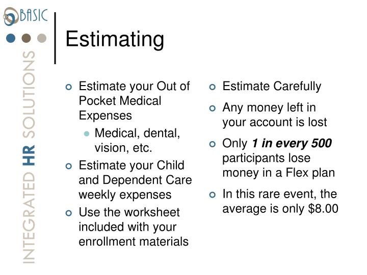 Estimate your Out of Pocket Medical Expenses