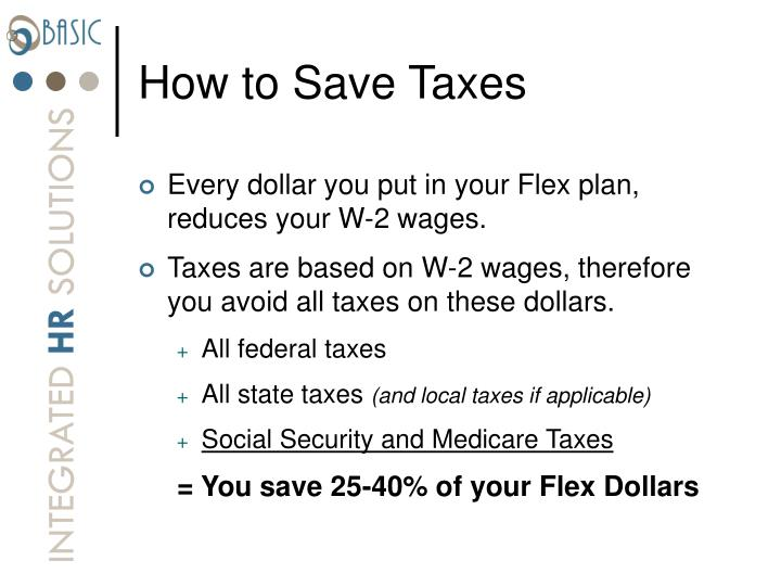How to Save Taxes