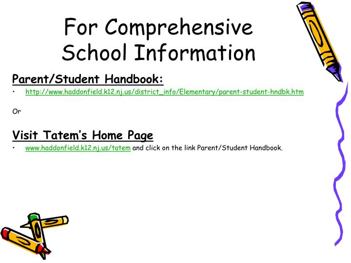 For Comprehensive School Information