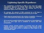 lightning specific hypotheses