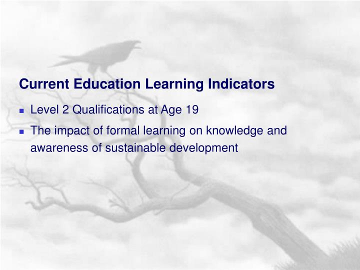 Current Education Learning Indicators