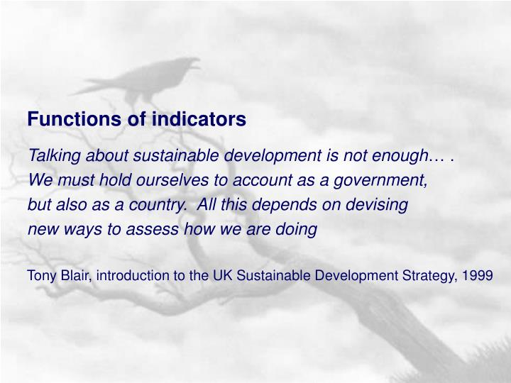 Functions of indicators