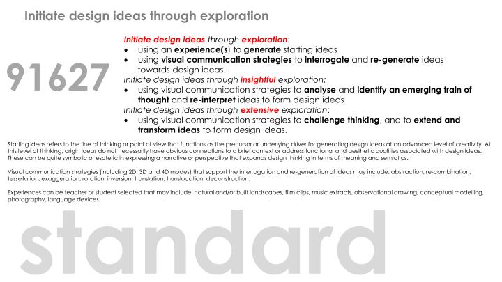 Initiate design ideas through exploration