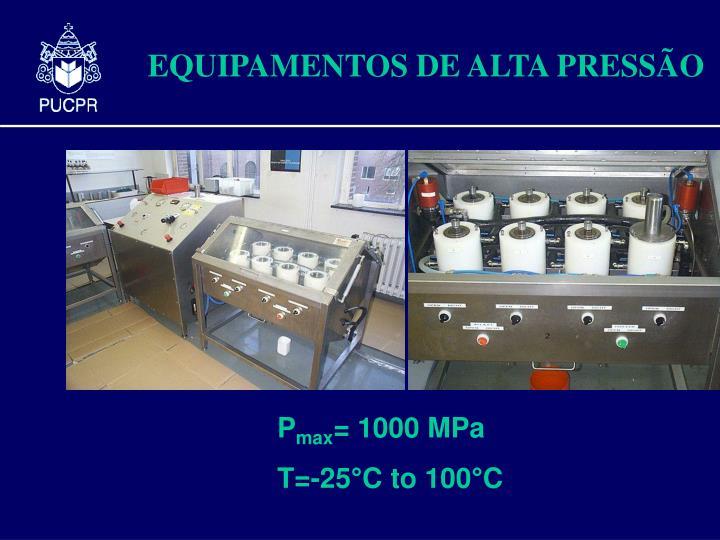 EQUIPAMENTOS DE ALTA PRESS