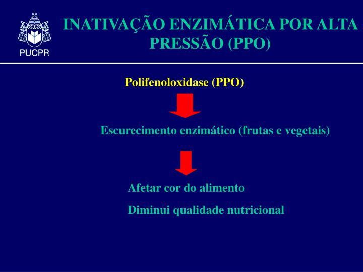 Escurecimento enzimático (frutas e vegetais)