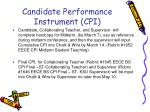 candidate performance instrument cpi