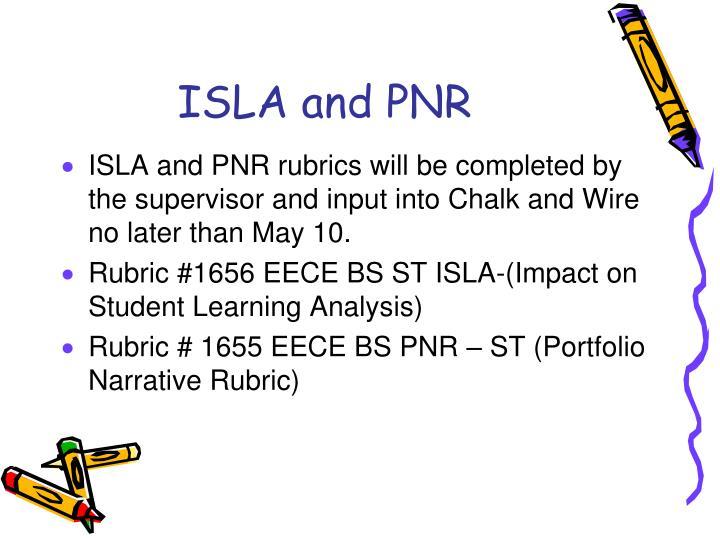 ISLA and PNR