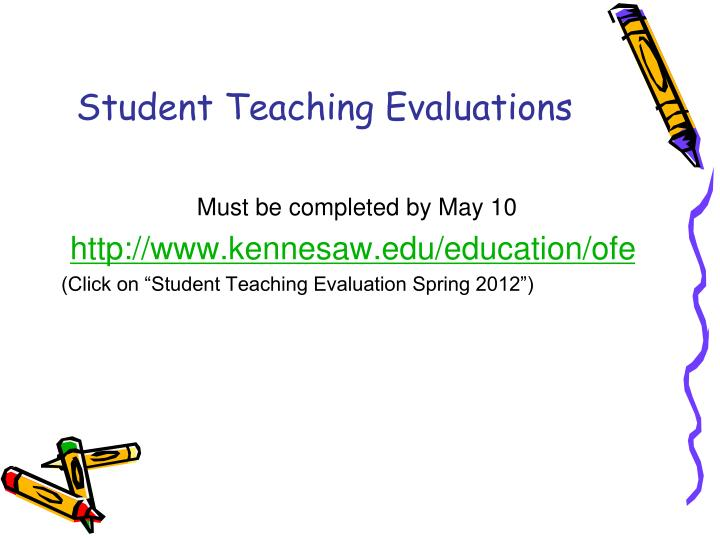 Student Teaching Evaluations