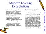 student teaching expectations