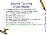student teaching expectations4