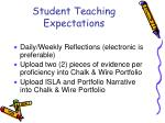 student teaching expectations5