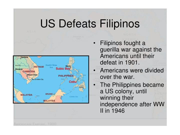 US Defeats Filipinos