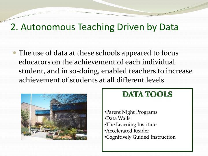2. Autonomous Teaching Driven by Data