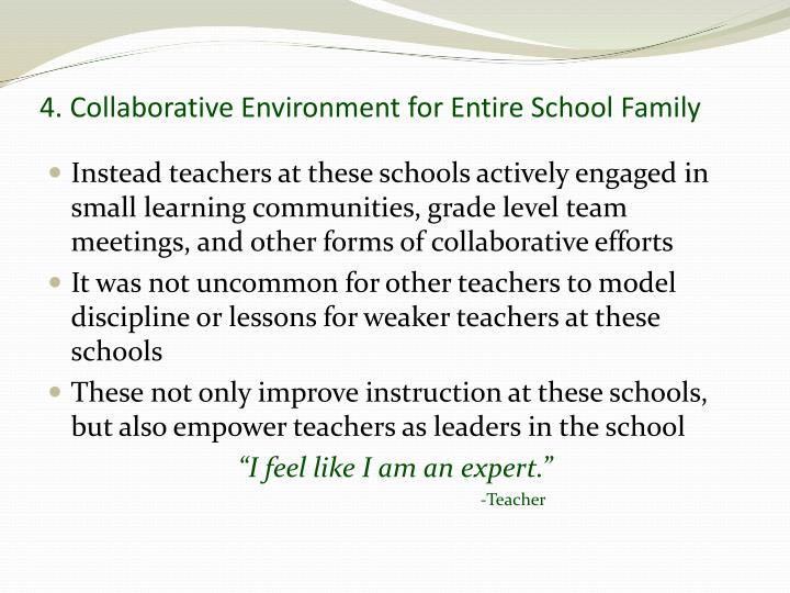 4. Collaborative Environment for Entire School Family