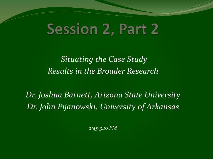 Session 2, Part 2