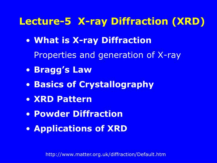 Lecture 5 x ray diffraction xrd
