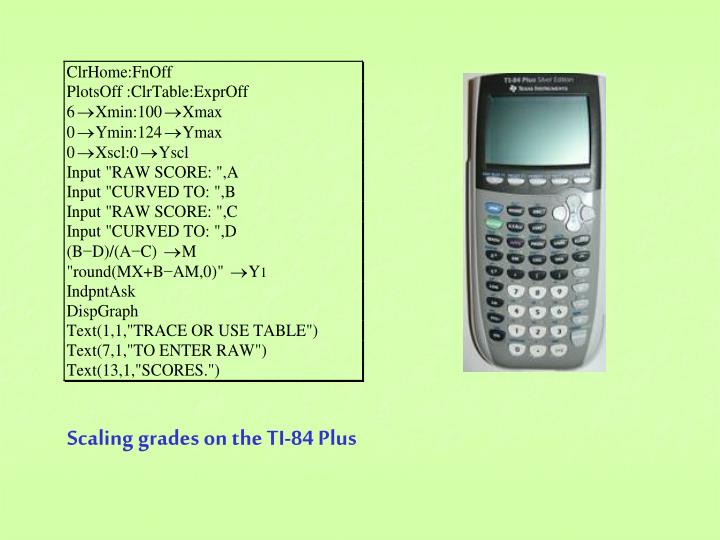 Scaling grades on the TI-84 Plus