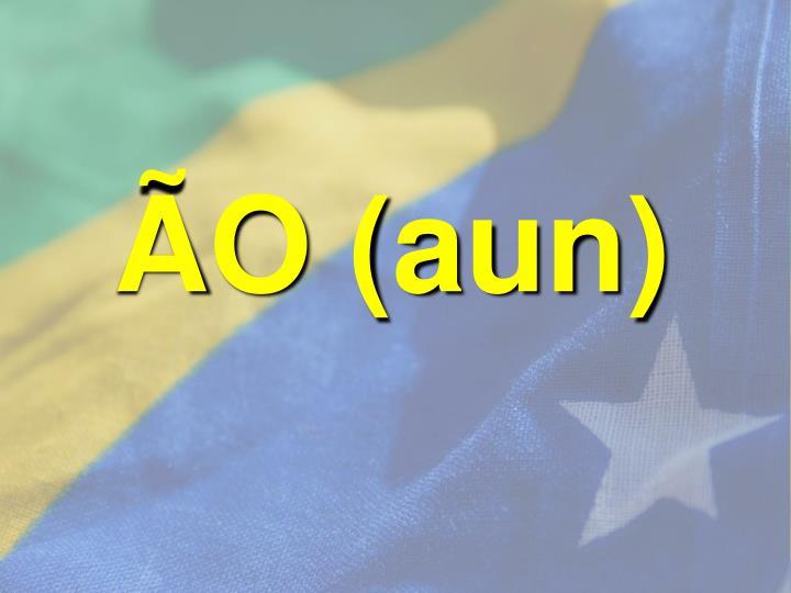 ÃO (aun)