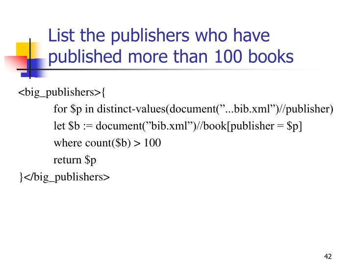 List the publishers who have published more than 100 books