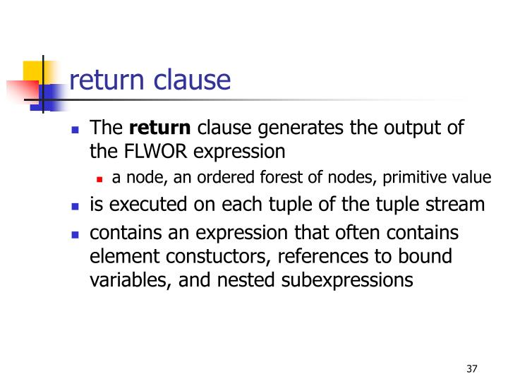 return clause