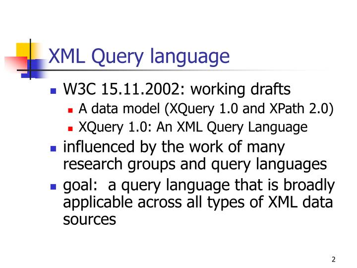 XML Query language