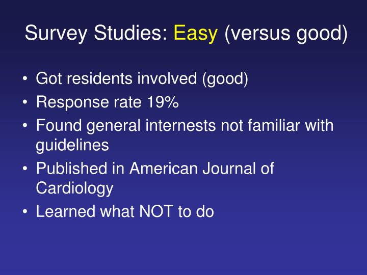 Survey Studies: