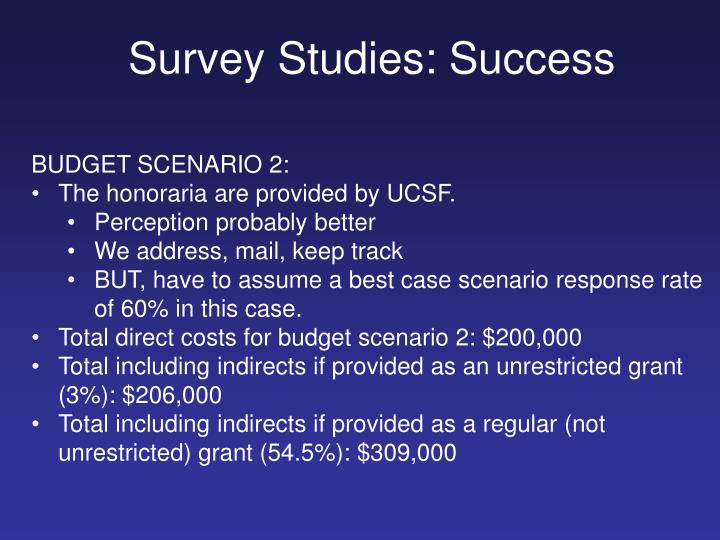 Survey Studies: Success