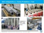 sehr erfolgreiche s c cavity produktion test