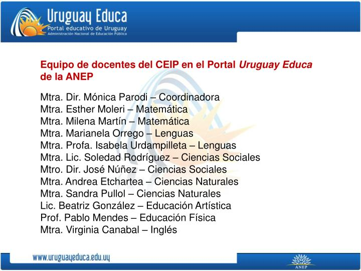 Equipo de docentes del CEIP en el Portal