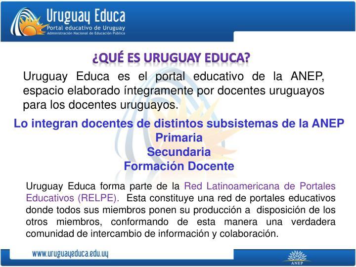 ¿Qué es Uruguay Educa?